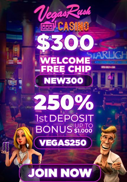 VegasRush Casino No Deposit Bonus Codes